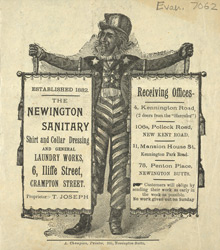Advert for the Newington Laundry Works